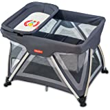 Fisher-Price Baby Boy's And Girl's Trance Portable Baby Cot (Space Grey)