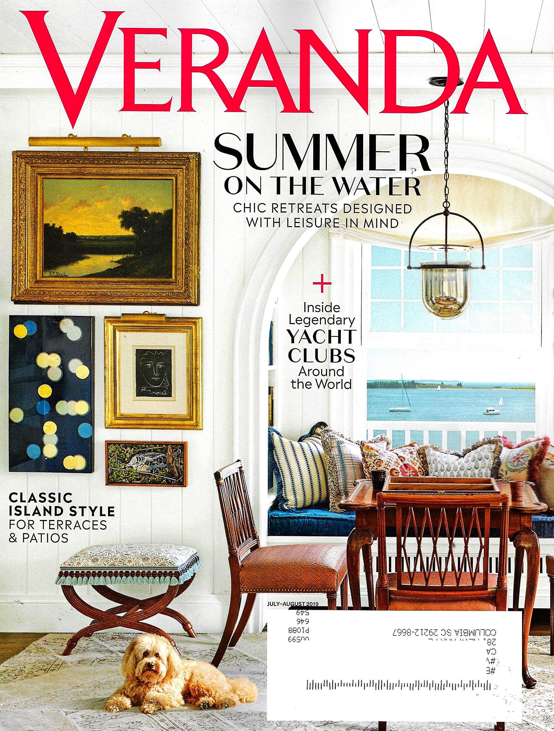Veranda Magazine July August 2019 Summer On The Water Veranda Magazine Amazon Com Books