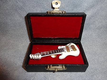 Blanco guitarra eléctrica Rock And Roll musical instrumento Pin ...