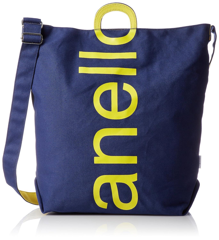 anello[アネロ] トートバッグ コットンキャンバスロゴ 2WAYトートバッグ
