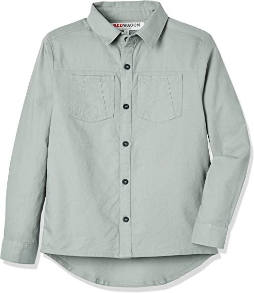 Marca Amazon - RED WAGON Camisa de Manga Larga para Niños: Amazon.es: Ropa y accesorios