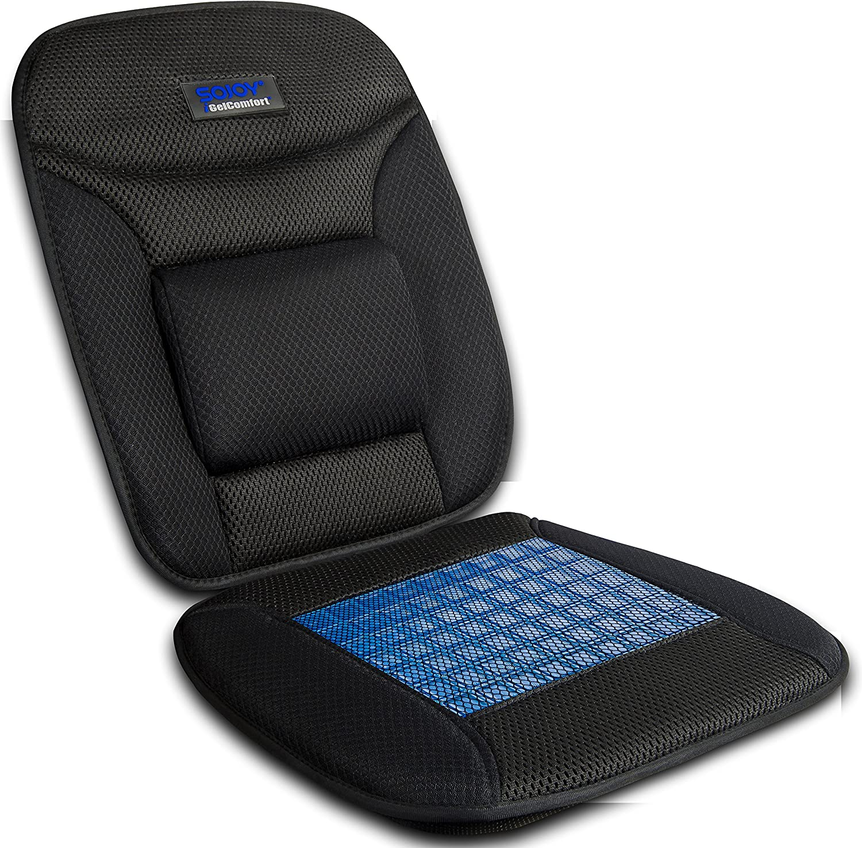 Sojoy iGelComfort Coccyx Orthopedic Breathable Gel Luxury Support Non-Slip Seat Cushion (Black) (39x20x4)