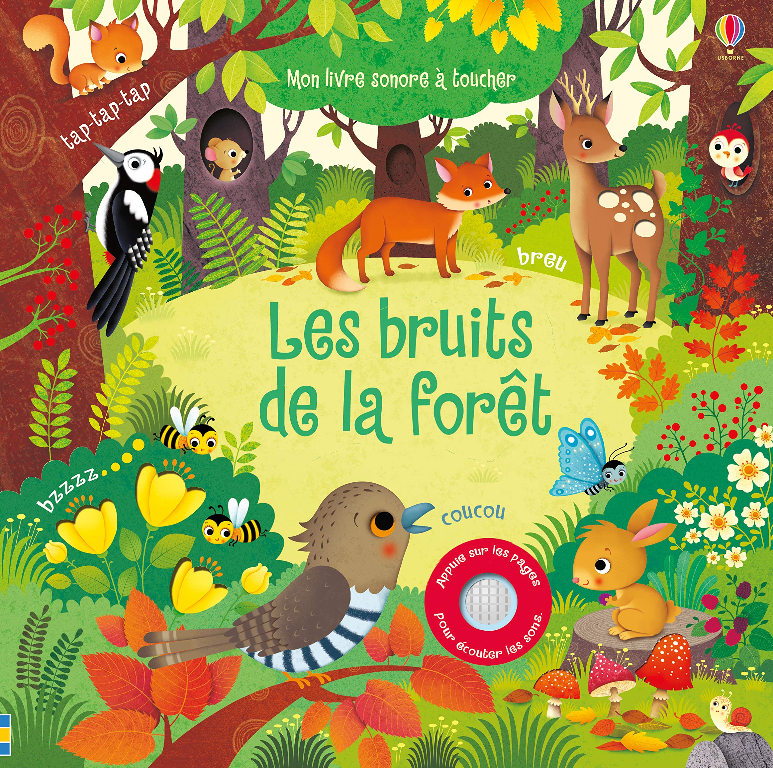 Amazon Fr Les Bruits De La Foret Mon Livre Sonore A