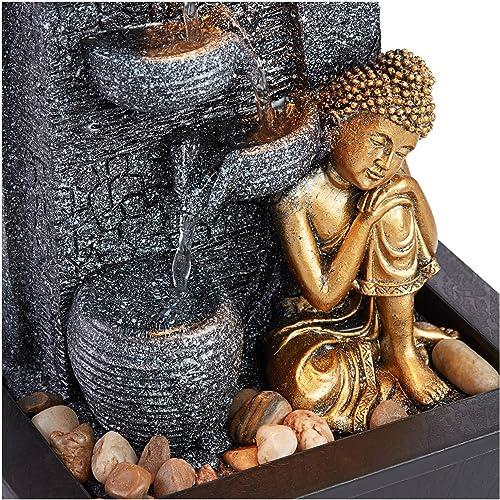 John Timberland Kneeling Buddha Asian Zen Indoor Table-Top Water Fountain