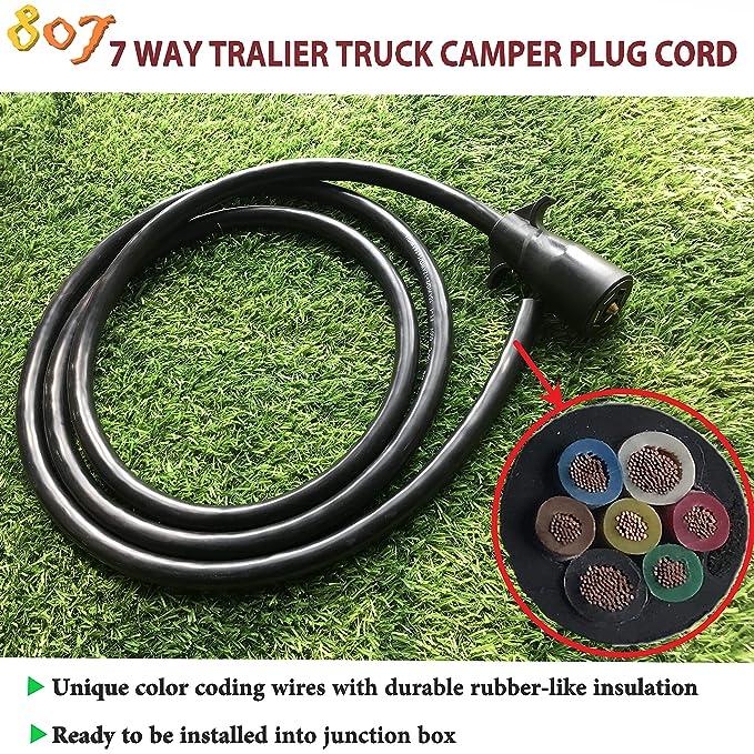 Amazon.com: Cable de conexión para remolque de 7 vías para ...