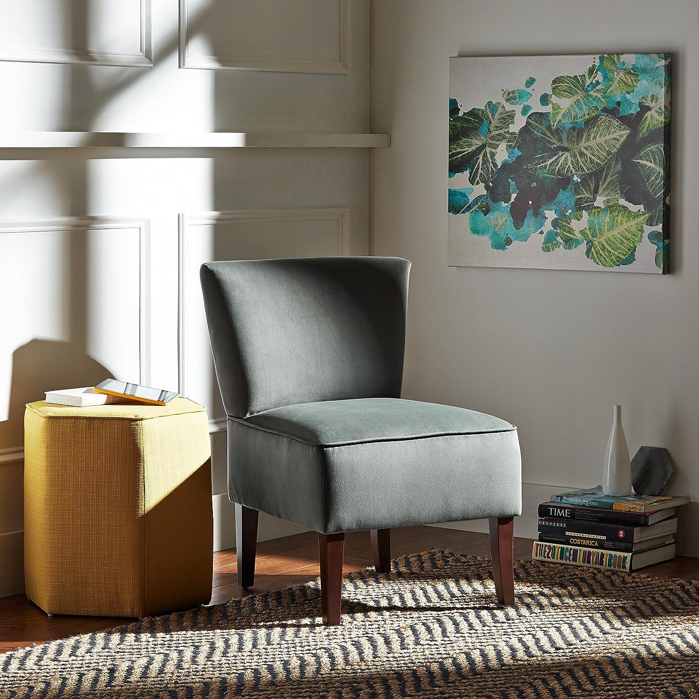 colore blu navy Rivet sedia senza braccioli modello Ashworth in velluto