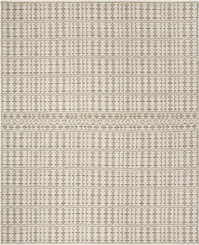 Safavieh Kilim Collection Premium Wool Area Rug, 8 x 10 , Ivory Light Grey
