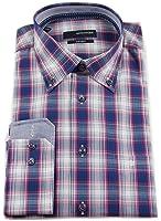 Seidensticker Herren Langarm Hemd Splendesto Regular Fit Button-Down-Kragen BD Club mehrfarbig kariert mit Patch 389578.16