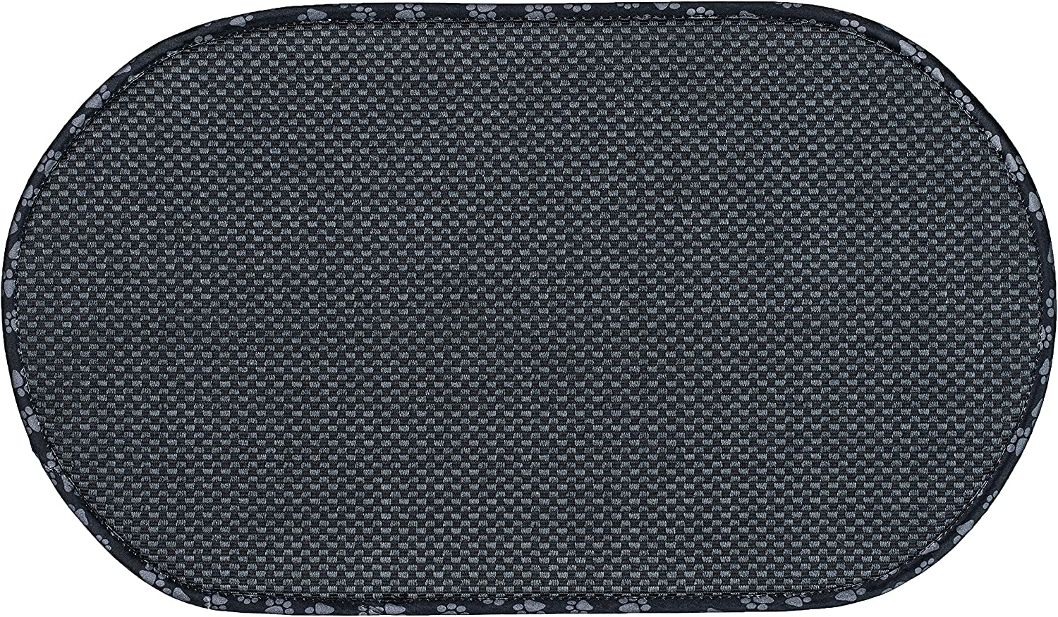 Envision Home 443301 Microfiber Pet Bowl Mat, 12.5 Inch x 21.5 Inch, Black