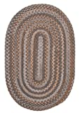 Oak Harbour Rug, 2 by 4-Feet, Graphite