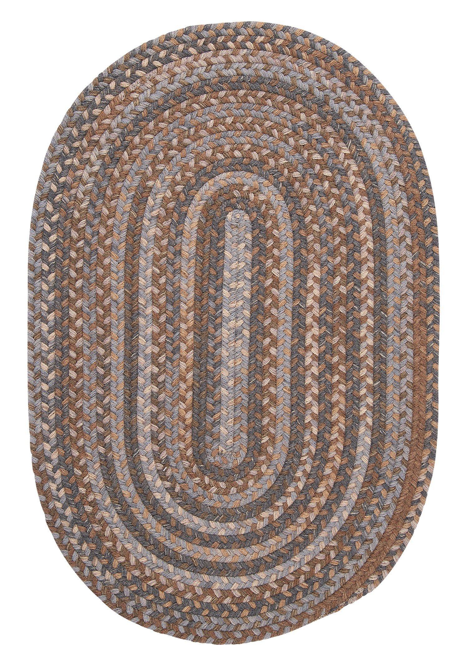 Oak Harbour Round Rug, 6-Feet, Graphite
