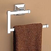 Plantex Crosslink Stainless Steel 304 Grade Squaro Napkin Ring/Towel Ring/Napkin Holder/Towel Hanger/Bathroom Accessories(Chrome) - Pack of 1