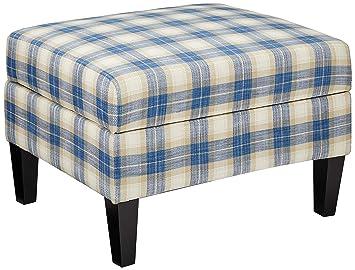 Awe Inspiring Amazon Com Christopher Knight Home Dasha Blue Plaid Fabric Machost Co Dining Chair Design Ideas Machostcouk