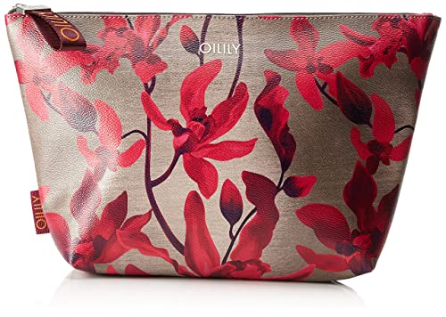 Oilily - Jolly Cosmeticpouch Lhz 1, Carteras de mano Mujer, Rot (Dark Red