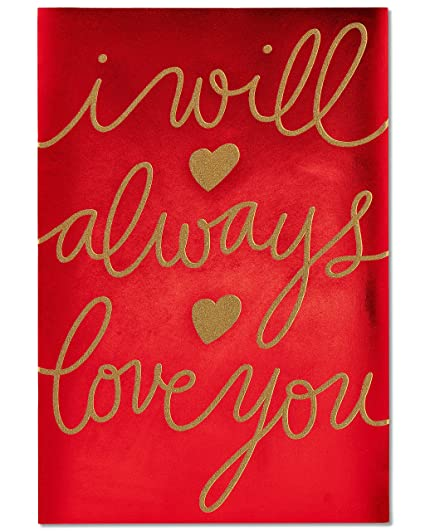 Amazon american greetings super jumbo always love you american greetings super jumbo always love you valentines day card with glitter m4hsunfo