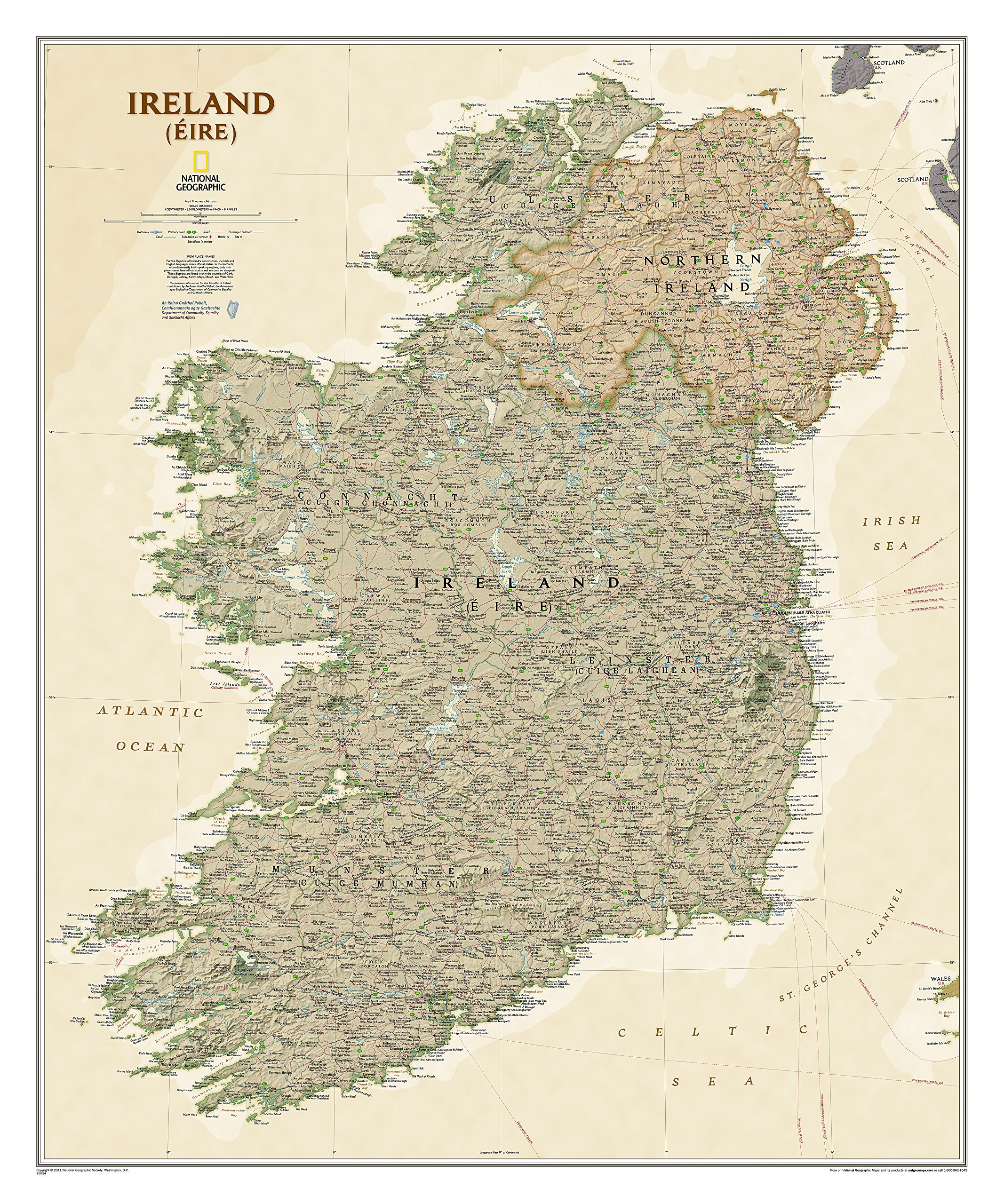Irland Executive: NATIONAL GEOGRAPHIC Länder & Regionen (National Geographic Reference Map)