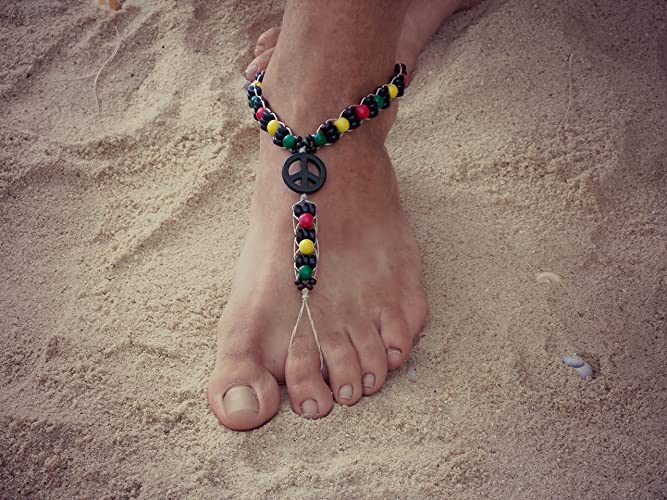 968112512a3a8 Amazon.com  Men Barefoot Sandals Rasta Hippie  Handmade