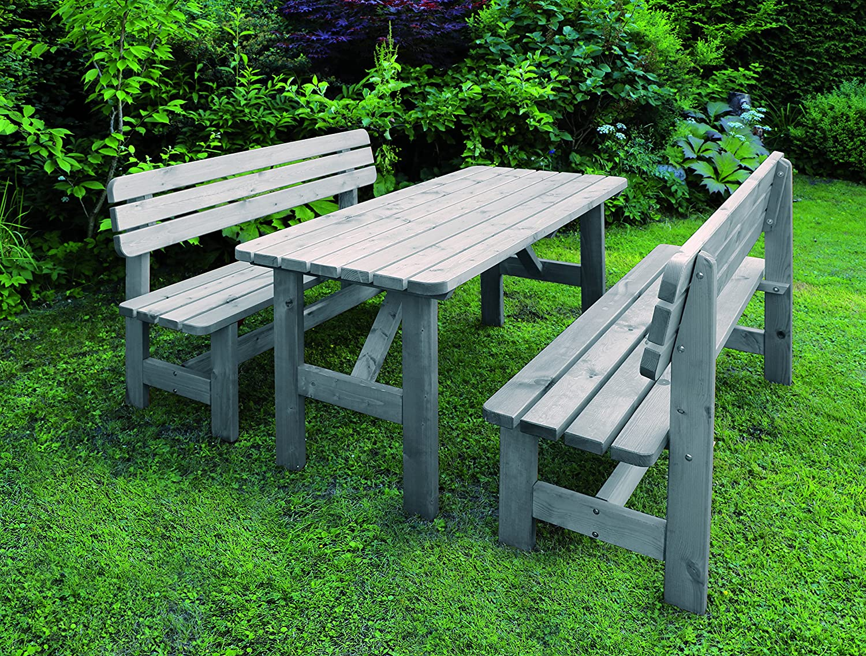 Promadino Holz-Garnitur Summer grau