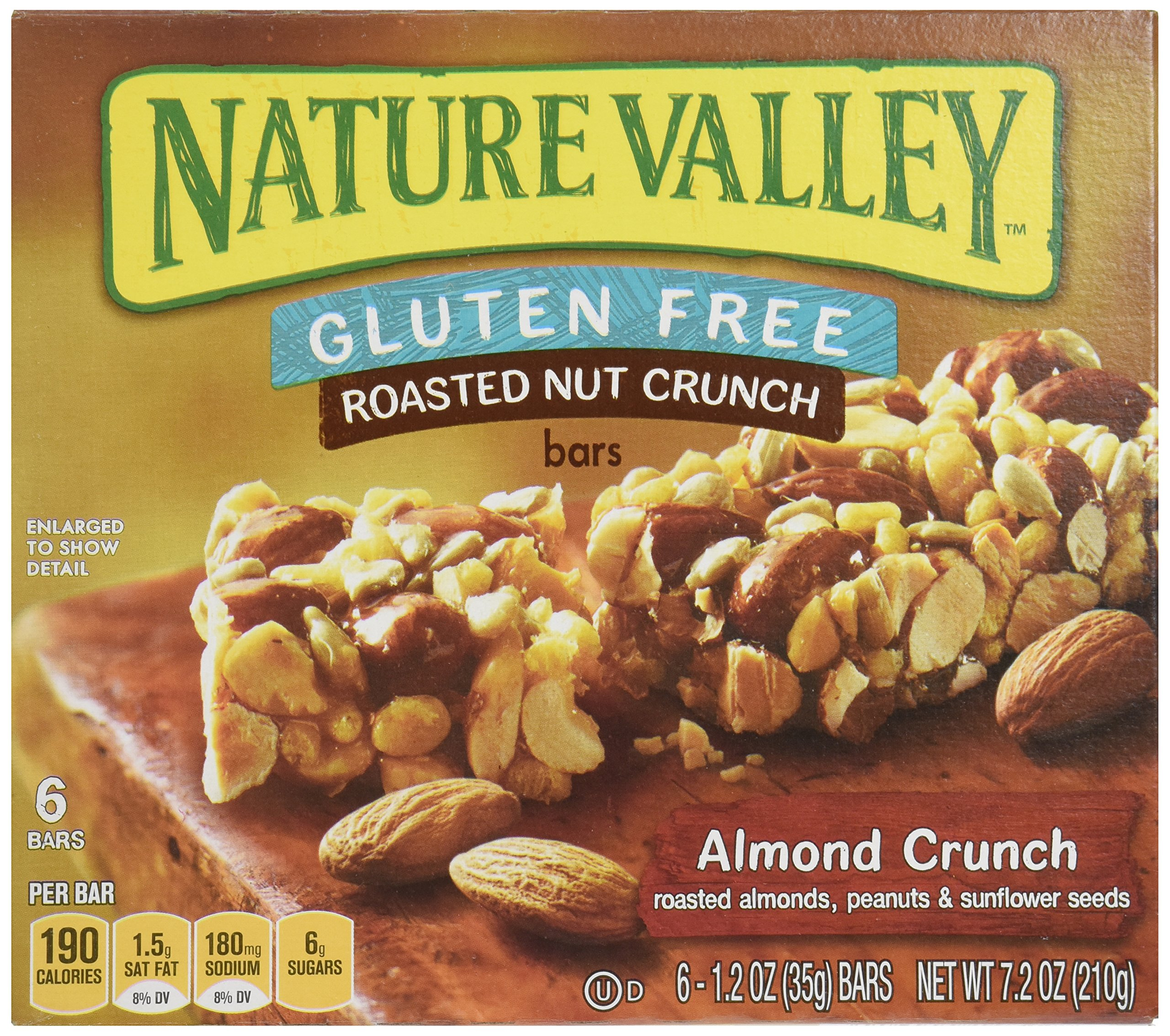 Nature Valley Roasted Nut Almond Crunch, 6 ct, 1.2 oz each