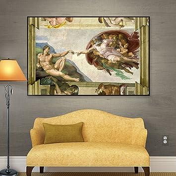 Amazon.com: ArtWall la creación de Adán de Miguel Ángel ...