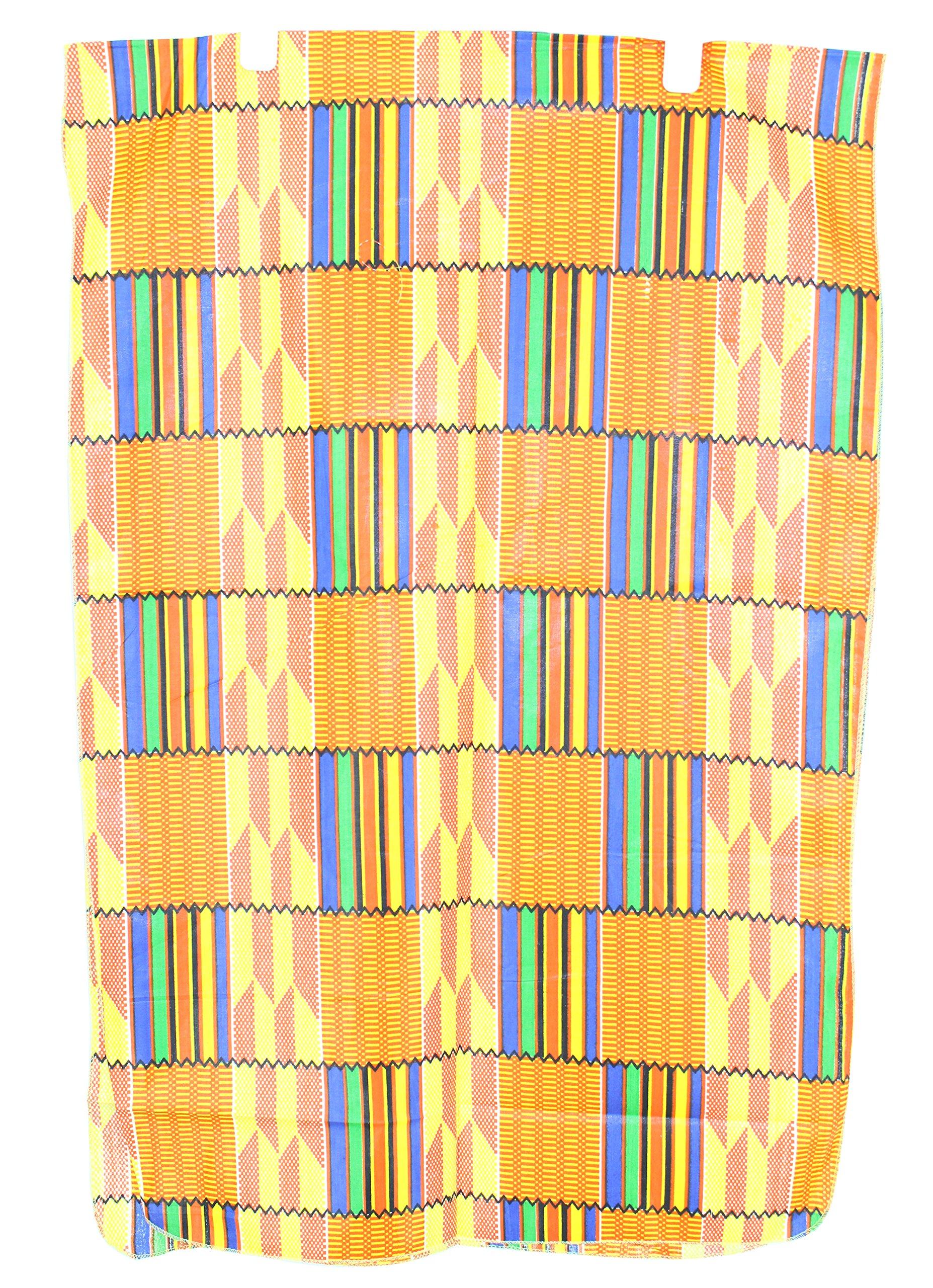 African Planet Women's Headwrap Scarf Lapa Wrap (F- Orange & Yellow)
