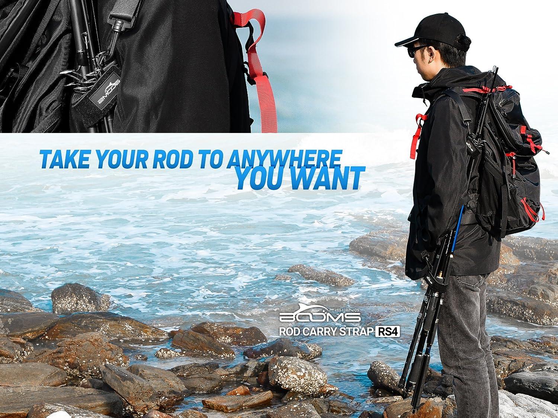 Booms Fishing RS4 Rod Carry Strap Sling Shoulder Belt, Black