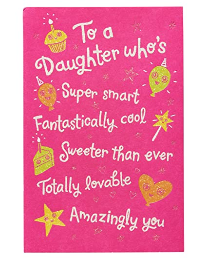 Amazon Better And Better Birthday Card For Daughter With