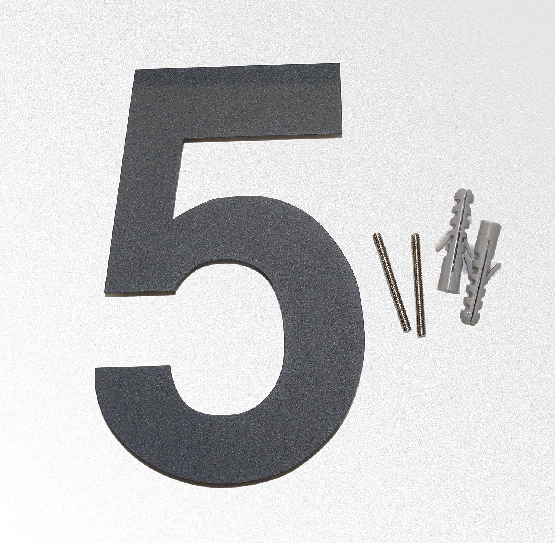 Thorwa/® Design Edelstahl Hausnummer wei/ß weiss beschichtet inkl Montagematerial//H: 160 mm//RAL 9003 // Witterungsfest 8