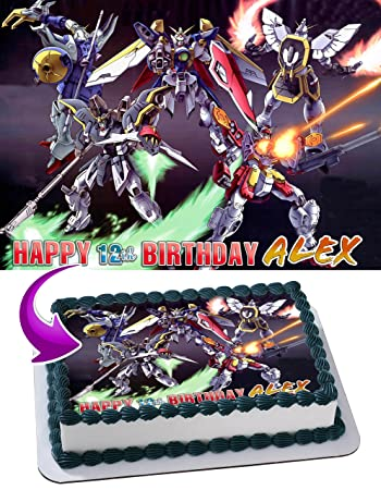 Mobile Suit Gundam Uc Edible Image Cake Topper Personalized Icing