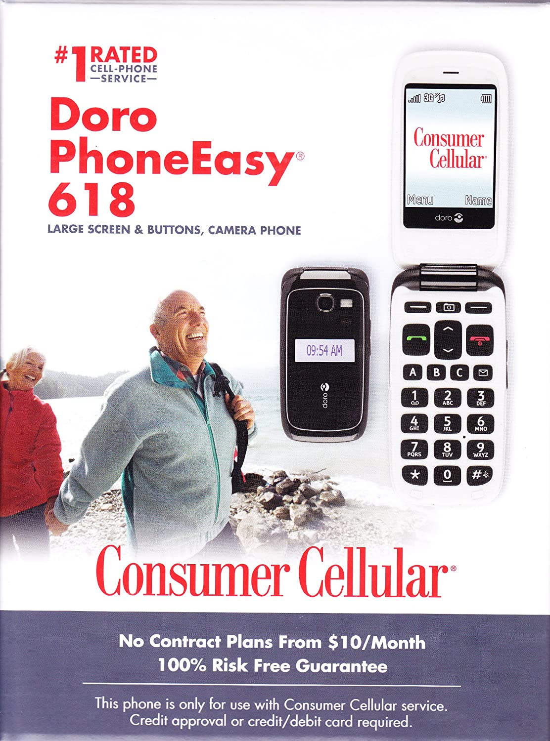 Magnificent Amazon Com Consumer Cellular Doro Phoneeasy 618 3G Mobile Phone Largest Home Design Picture Inspirations Pitcheantrous