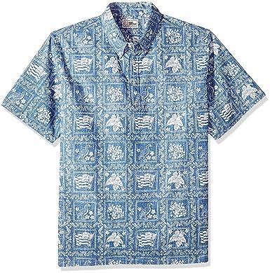 17c118ef6 Reyn Spooner Men's Lahaina Sailor Spooner Kloth Classic Pullover Hawaiian  Shirt, Denim, ...