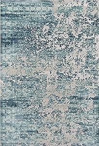 Momeni Genevieve Collection Area Rug, 2' x 3', Blue