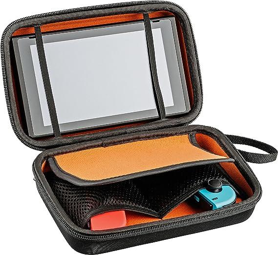 Nintendo Switch Bag for Console, Joy-Con, 10 Módulos y Cables - Funda rígida de viaje, negra, con correa de transporte: Amazon.es: Videojuegos
