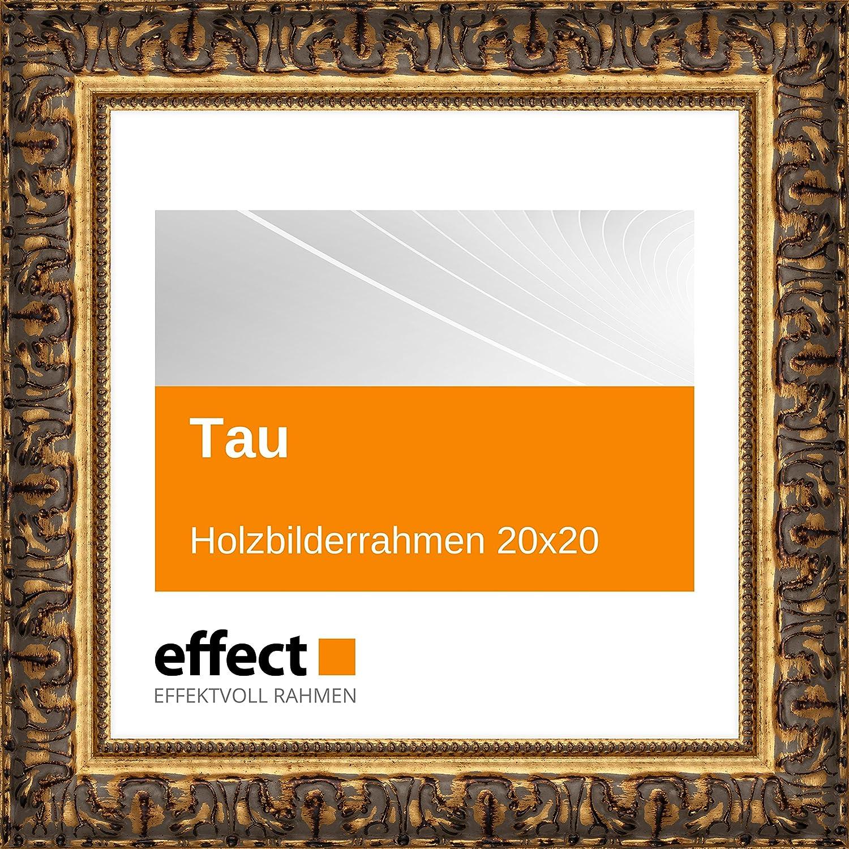 Effect Bilderrahmen Tau Gold Bilderrahmen Holz 20x20 Antireflexglas ...