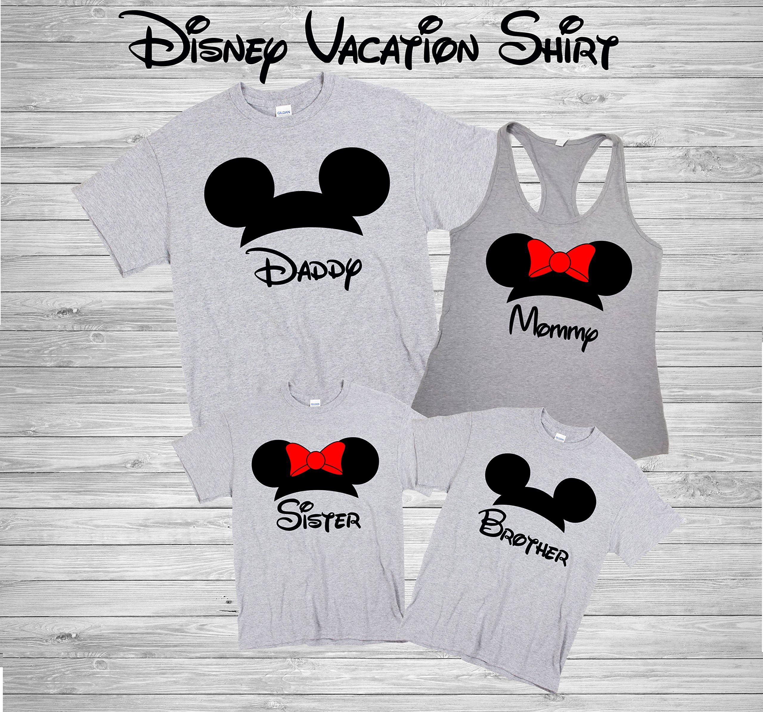 Disney Family Shirts Disney Shirts,Disney Family Shirts, Mickey, Minnie,Custom T-shirt,Personalized Disney Shirts for Family Shirts Matching D24