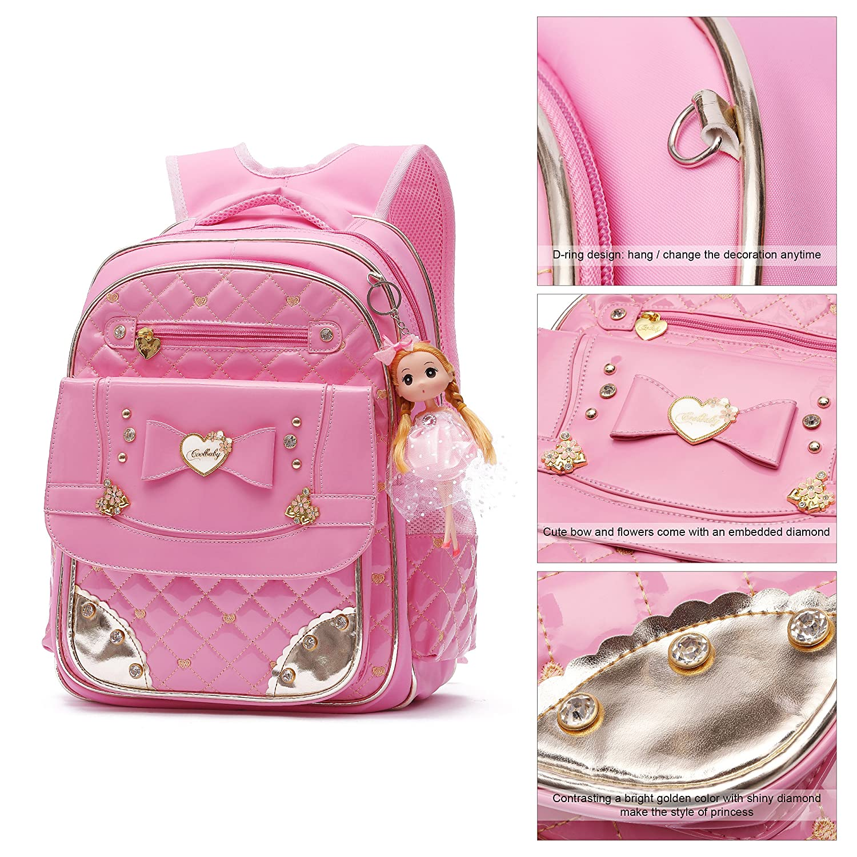 Ali victory waterproof pu leather kids backpack cute school bookbag for  girls small pink kids backpacks 745fe987735bc