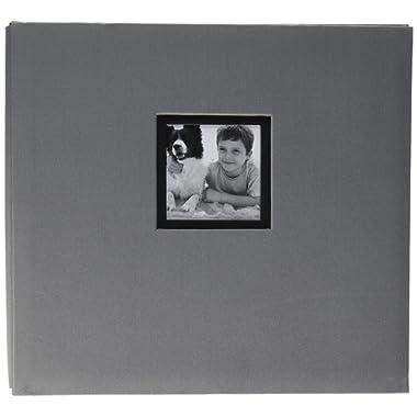 K&Company Gray Fabric Post Bound Window Album 12 X12
