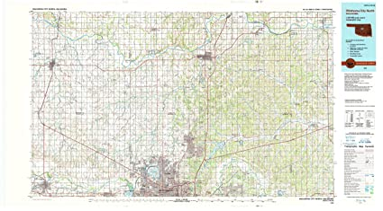 Amazon.com : YellowMaps Oklahoma City North OK topo map, 1:100000 ...