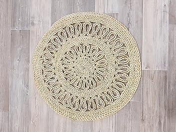 Amazon.de: maisstrohteppich maisstroh teppich 60cm rund mit muster