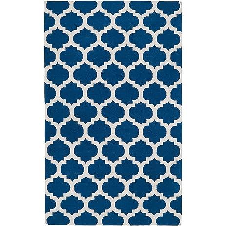 Surya Frontier FT 84 Flatweave Hand Woven 100% Wool Midnight Blue 5u0027 X
