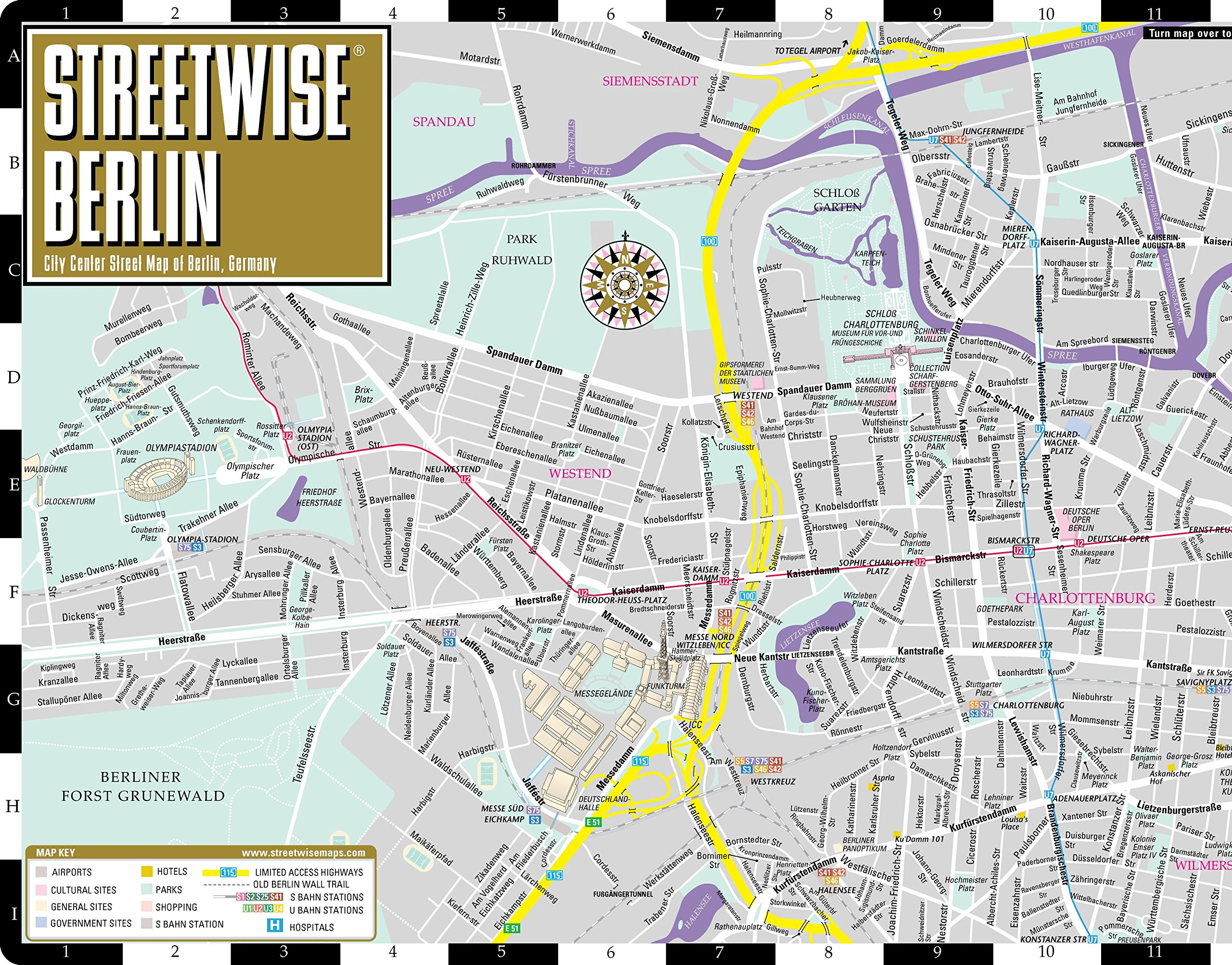 Streetwise Berlin Map Laminated City Center Street Map Of Berlin - Berlin map hotels