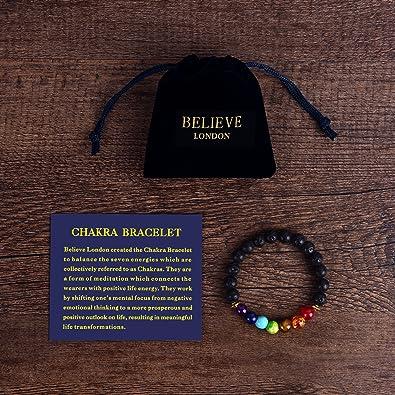 Gemstone Healing Chakra Bracelet Anxiety Crystal Natural Stone