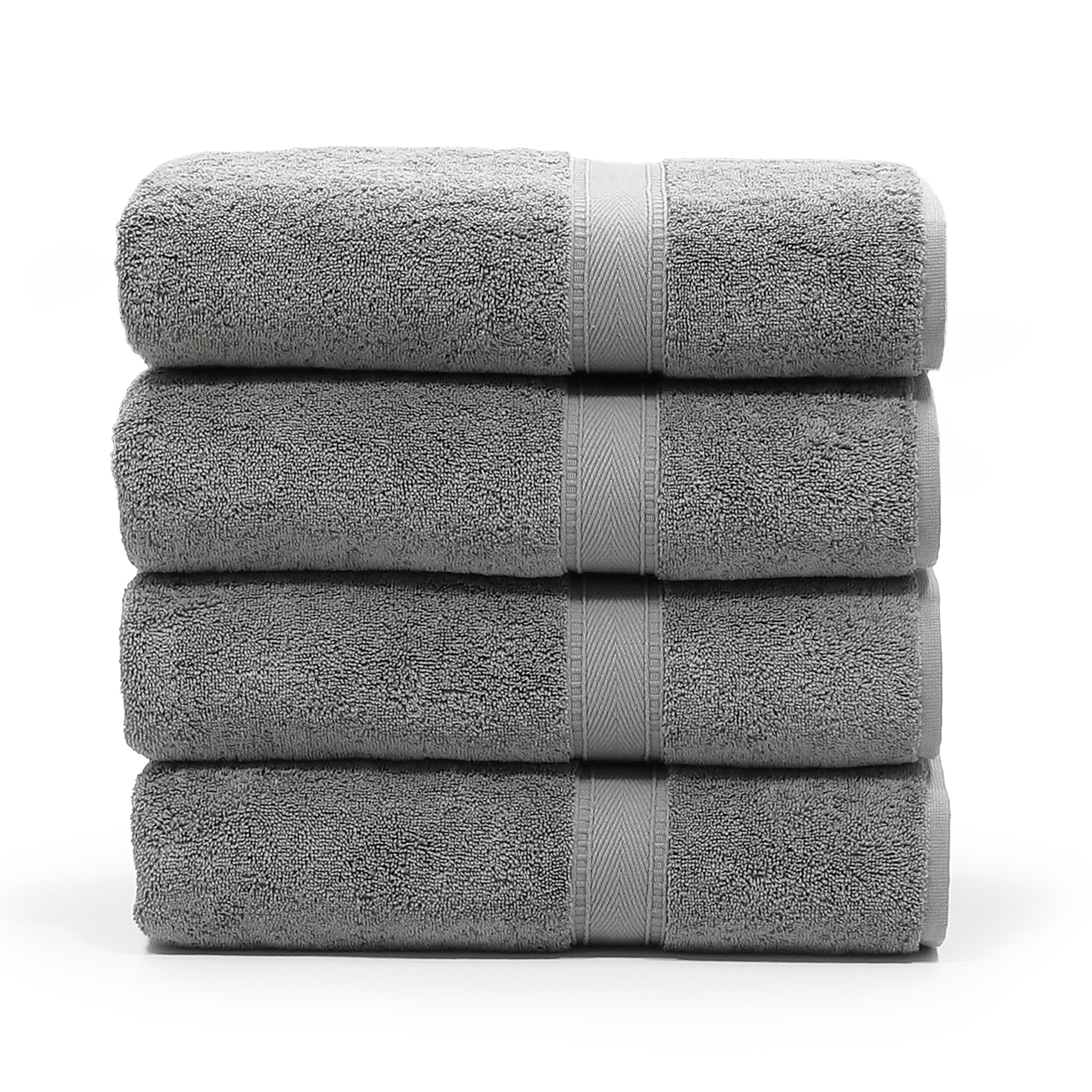 Linum Home Textiles SN96-4BT Bath Towel, Dark Grey