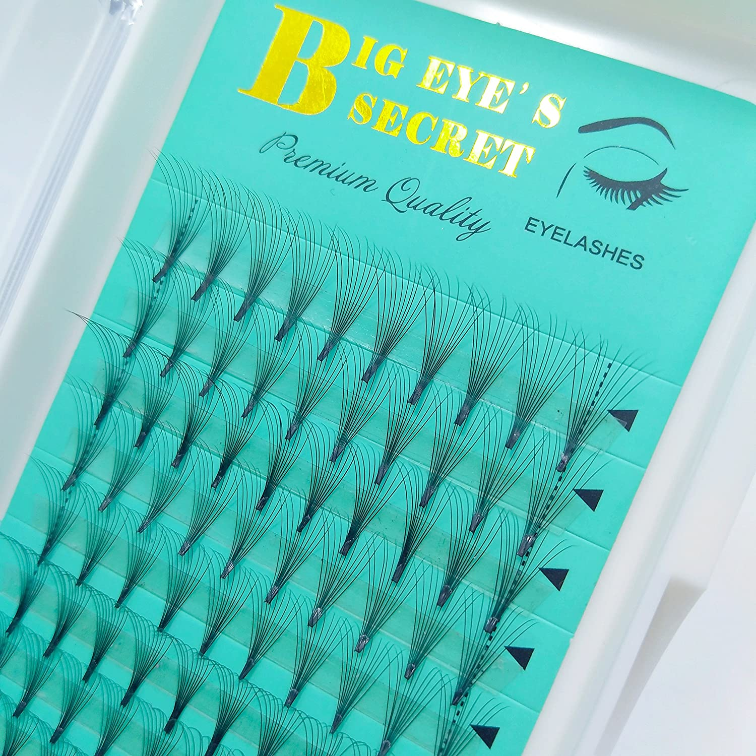 BIG EYE' S SECRET 10D Middle 0.07 Thickness C Curl Volume Eyelashes Black Premade Fans Extension Lashes Lash Extensions Premium Quality Natural Eyelashes Volume Lashes (10D 0.07C 14mm) Ltd.