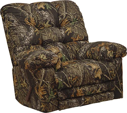 Catnapper Magnum Camo Chaise Rocker Recliner w Heat Massage in Infinity