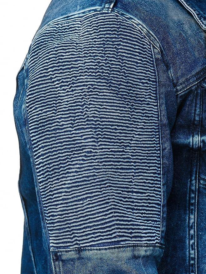 c8ac2fa7812a00 Red Bridge Herren Jeansjacke Biker Style Jeans Jacket Blue Denim Jacke Blau  M6058  Amazon.de  Bekleidung