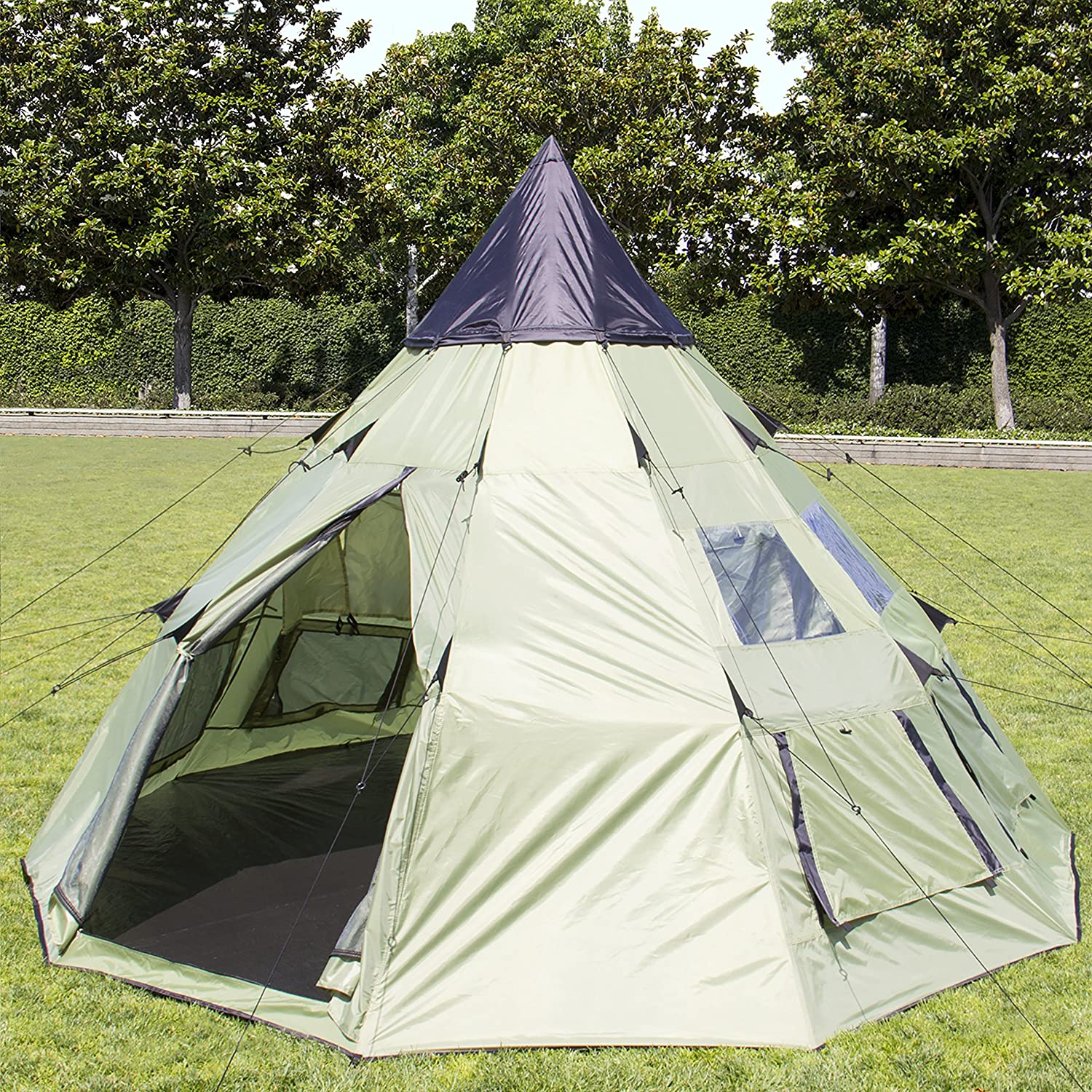 Amazon.com  Best Choice Products 10u0027x10u0027 Teepee C&ing Tent Family Outdoor Sleeping Dome W/ Carry Bag  Sports u0026 Outdoors & Amazon.com : Best Choice Products 10u0027x10u0027 Teepee Camping Tent ...