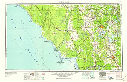 Amazon Com Yellowmaps Gainesville Fl Topo Map 1 250000 Scale 1 X