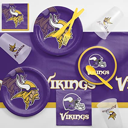 4981e6c90b9 Image Unavailable. Image not available for. Color  Creative Converting  Minnesota Vikings Game Day Party Supplies Kit
