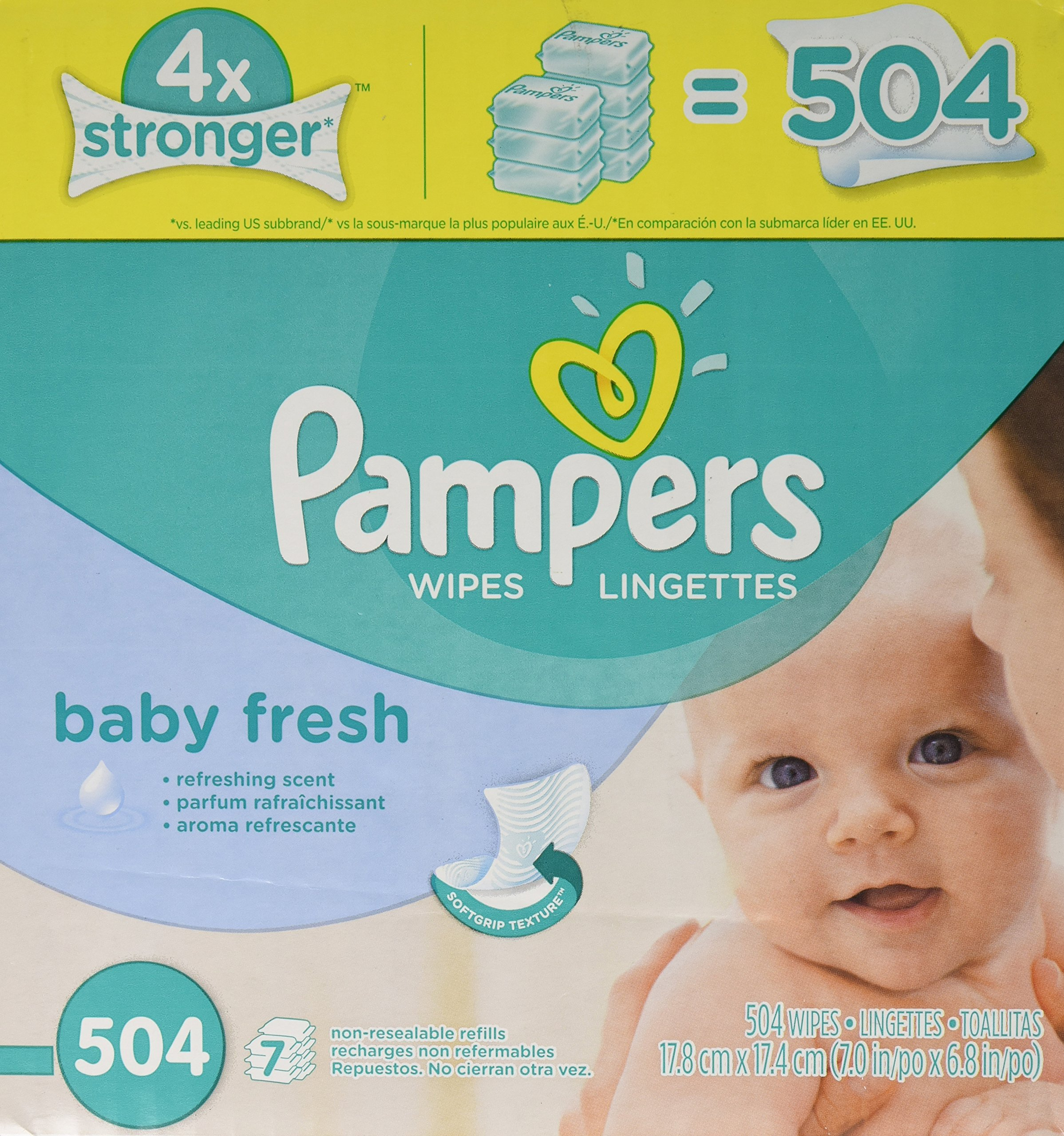 Pampers Baby Fresh Baby Wipes Refill - 504ct